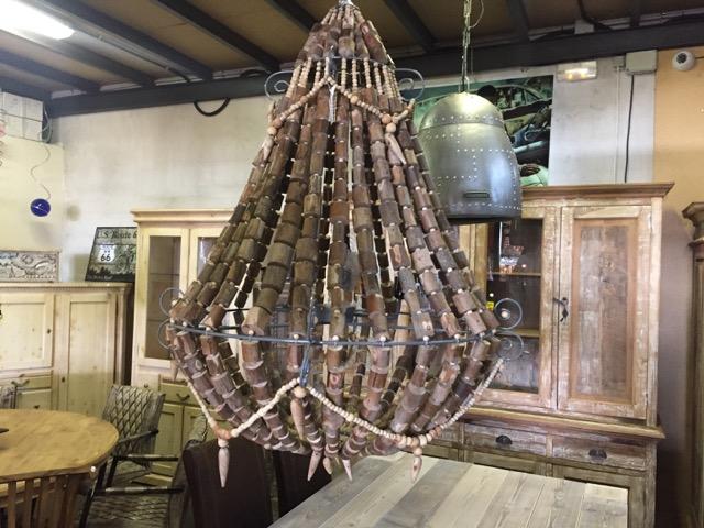 Gro e holz lampe teakshop llucmajor for Dekoartikel aus holland