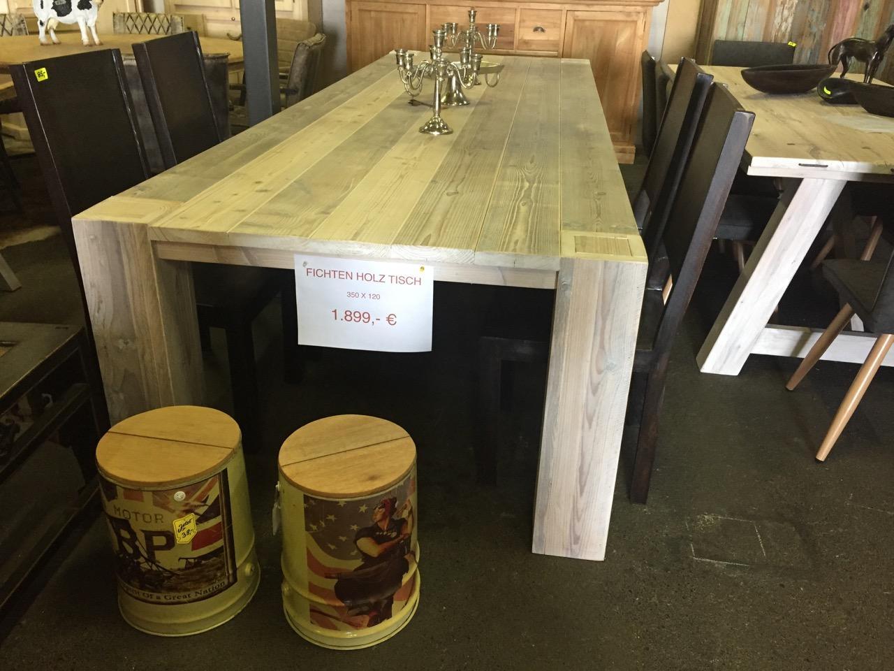 Fischtenholz tisch 350 x 100 teakshop llucmajor for Dekoartikel aus holland