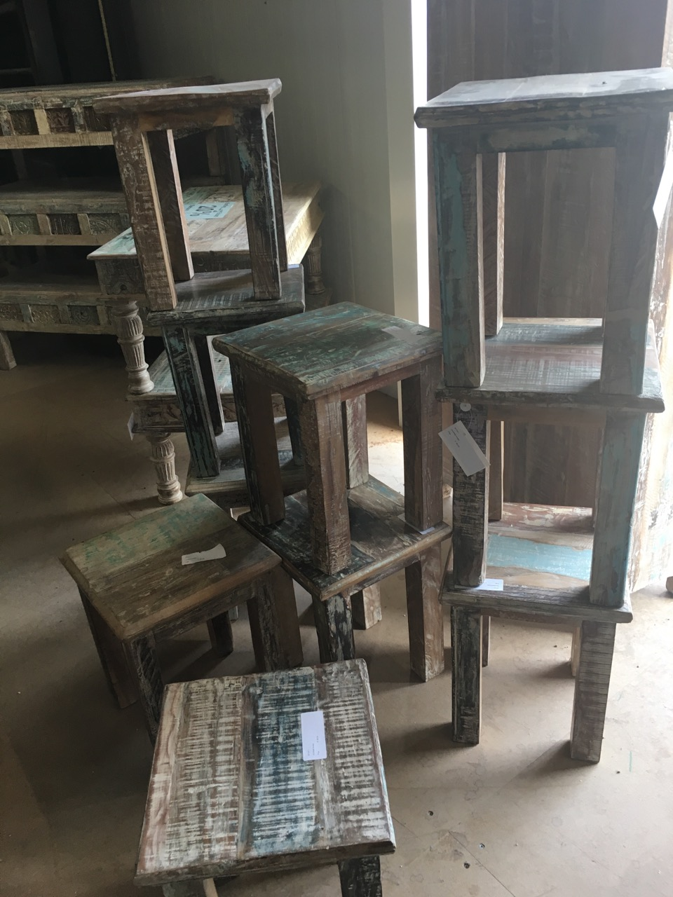 hocker oder nachtische teakshop llucmajor. Black Bedroom Furniture Sets. Home Design Ideas