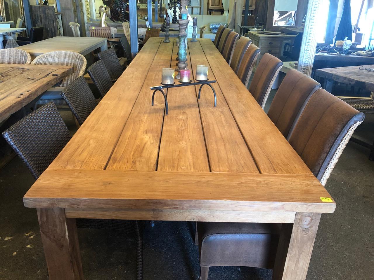 5 Meter Outdoor Tisch Teakshop Llucmajor